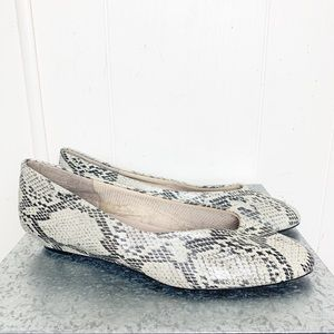 Vintage Annie Vegan Leather Snakeskin Wedge Heel